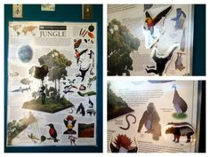 Poster with velcro matching pieces. The current theme at home for my preschooler is jungle. One thing I did was to buy a colorful poster that shows jungle animals and their names. I made color copies of the poster in small sections where there were animals. I cut out the animals from the copies and then laminated the whole poster and the cutouts at my local office store. Added small pieces of adhesive velcro to the back of each animal cutout and corresponding spot on the poster. Instant…