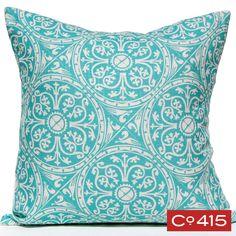 Tin Ceiling Pillow - Aqua