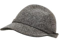 Immer im Trend mit No1, in der Stadt und auf dem Land. Schild und kleine Krempe, kontrastierende Nähte, farblich passendes Hutband