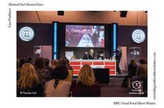 Lisa Faulkner on MasterChef MasterClass stage at BBC Good Food Show Winter 2013 (photo by Tincture Ltd)