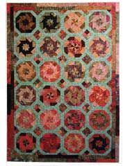 Pieced Lap Quilt & Throw Patterns - Mardi Gras Quilt Pattern