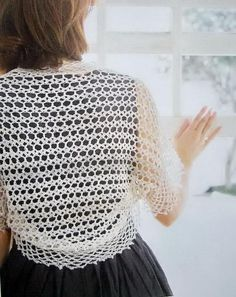 Crochet X-Stitch Shrug Free Pattern : ... Crochet Shrugs on Pinterest Crochet Boleros, Shrug Pattern and