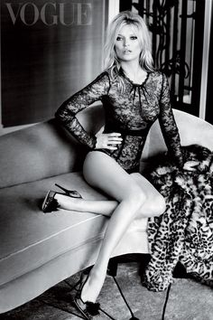 Kate Moss for British Vogue December 2014 by Mario Testino