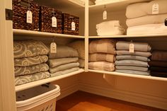 Linen closet organization and list of must haves
