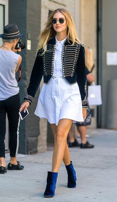 Stret style look com chemise
