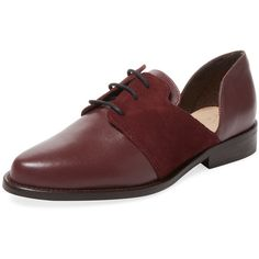 Alex + Alex Women's Cut-Out Leather Oxford - Red - Size 35 (315 BRL) ❤ liked on Polyvore featuring shoes, oxfords, red, lace up shoes, genuine leather shoes, red shoes, laced shoes and leather oxfords