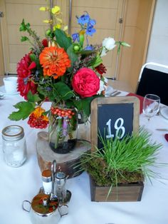 Flora by Jamae --like the chalkboard table numbers