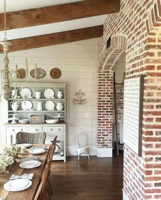 6 Glowing Tips AND Tricks: Outdoor Dining Furniture Home dining furniture ideas rugs.Outdoor Dining Furniture Home. White Brick Walls, Exposed Brick Walls, Exposed Beams, Wood Walls, White Siding, Exposed Brick Kitchen, Faux Brick Walls, Wall Wood, Rustic Walls