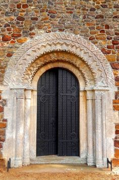 Arched door - Church of St. Mary - Shouldham Thorpe, Norfolk, England