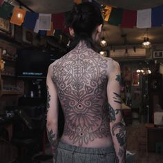 Healed one I did sometime ago on 蘇東 ! Thanks for the photo! Back Tattoo, High Neck Dress, Ink, Tattoos, Instagram Posts, Fashion, Tattoo Back, Turtleneck Dress, Moda