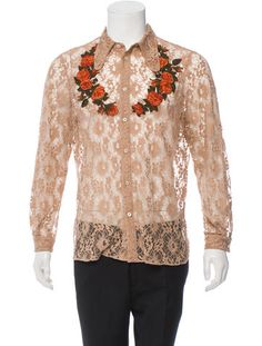 Gucci Floral Lace Western Shirt