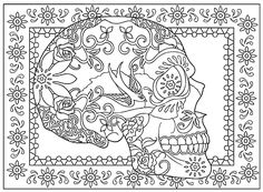 Creative Haven Day of the Dead Coloring Book, Dover Publications