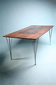 Table, designed by Bruno Mathsson for Fritz Hansen