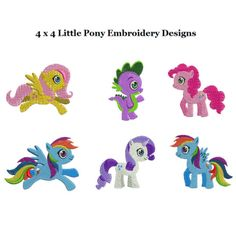 Little Pony Machine Embroidery Designs