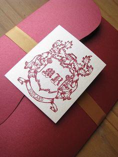 Ruby Filigree Wedding Invitation by Daisy Designs