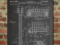 Gibson Les Paul Electric Guitar Patent - www.eklectica.in #eklectica