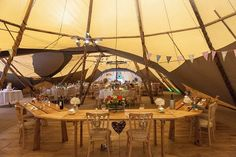 tipi top table