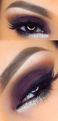 Silver pop mauve smokey eyes