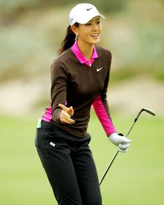 Michelle Wie... Stanford student and professional golfer... full package..was driving the ball 300 yards at 12 years old..hold the lowest round ever as a woman on the mens tour (68)