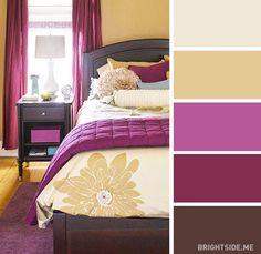 20 combinaisons de couleurs pour décorer votre chambre à la perfection                                                                                                                                                                                 Plus
