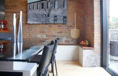 Adaptive Reuse of an Old Mill = Great Interior Finishes :: eclectic dining room by Esther Hershcovich