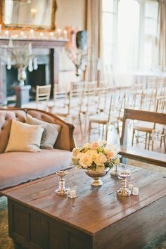 Lounge before the reception at Southern California wedding from Fresh Events, Onelove Photo and Found Vintage Rentals