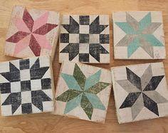Mini barn quilts