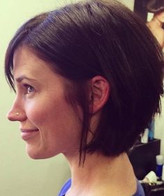 Easy carefree hair.  Short hairstyles for those who want to wash and go.