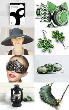"This is what black and green can do! Check ""Treasury 93"" by Lavinia Capatina on Etsy--Pinned with TreasuryPin.com"
