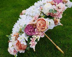 Floral Lace Umbrella Vintage Wedding Decor Centrepiece Baby Shower Decor Garden Party