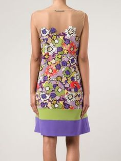 Alberta Ferretti - Floral Print Dress - back