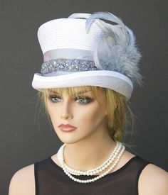 Women's Formal Hat, Ascot Hat, Top Hat, Mad Hatter, Wedding Hat, Elegant Hat Church Hat Melbourne Cup Hat Victorian Riding Hat, Event hat