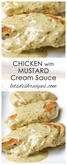 You Have Meals Poisoning More Normally Than You're Thinking That Chicken With Mustard Cream Sauce Recipe This Easy Chicken Dish, With A Creamy Mustard Sauce, Is On The Table In About 20 Minutes Creamy Mustard Sauce, Dijon Mustard Sauce, Mustard Pork Chops, Cream Sauce Recipes, Chicken Recipes With Sauce, Recipe Chicken, Easy Chicken Dishes, Chicken Dishes For Dinner, Chicken Cutlet Recipes