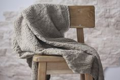 Linen blanket natural linen throw linen bed cover by LinenFromBY