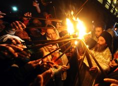 Holy Fire Lights Orthodox Easter In Jerusalem's Church Of The Holy Sepulchre (VIDEO) (PHOTOS)
