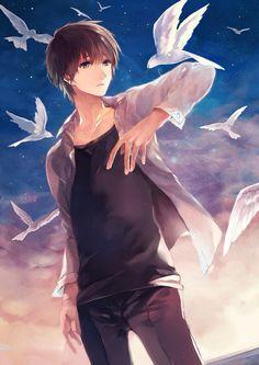 Read Capricorn- Male Anime Version from the story Zodiac Scenarios by DarthClo (⭐️w a f f l e s⭐️) with reads. Anime image f. Hot Anime Boy, Cute Anime Guys, I Love Anime, Awesome Anime, Anime Boys, Brown Hair Anime Boy, Manga Anime, Fanarts Anime, Manga Art