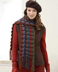 Harvest Crochet Scarf pattern.  Great for fall and winter