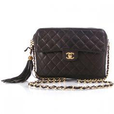 64296e856317 Lambskin Leather, Leather Tassel, Quilted Bag, Chanel Handbags, Vintage  Chanel, Vintage