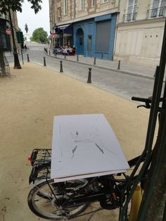 Perfect day Sketching at Place #Dauphine. #Paris. #LaCite #zoiaskoropadenk