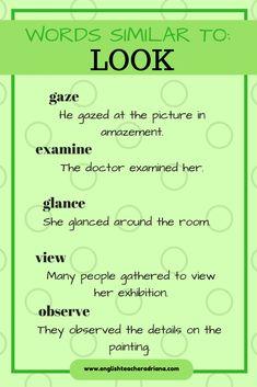 Vocabulary, English