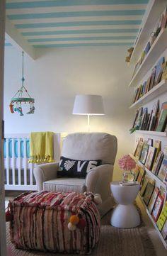 A wonderful, book-centric nursery.