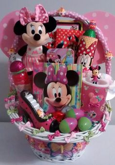 $65 @Ebay  LG MINNIE MOUSE Easter Fun Gift Basket #Disney