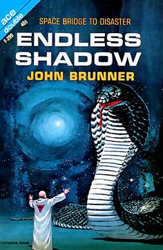 scificovers:  Endless Shadow by John Brunner Ace Double F-299 1964. Cover by Ed Valigursky.