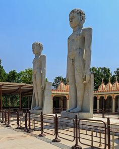In the forest, there is a famous Jain temple called Trimurti or Trimurti Digambar Jain Mandir. This temple is widely visited by Digambar sect of Jain community. It has three huge idols of lord Adinath and his two sons, lord Bahubali and lord Bharata. Statue of Rishabhanatha is 31 feet in height and tallest in all three on both side statue of Bharata and Bahubali are 28 feet tall. There is a 51 feet kirti stambh also present here.