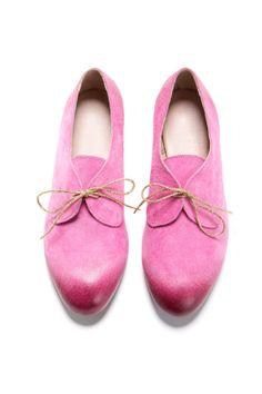 Oxford chaussures roses. forme d'amande oxfordstyle par ImeldaShoes