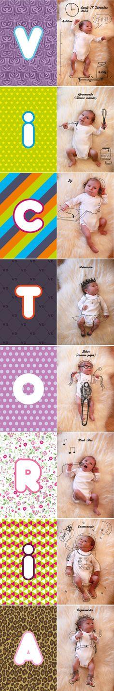 faire part naissance original cherie sheriff Baby Album, Diy Headband, Photomontage, Victoria, Photo Manipulation, Maternity Photography, Baby Pictures, Announcement, Birth
