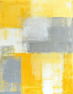 Grey and Yellow Abstract