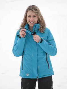 Winterjacken für Damen: Klassische, leicht gefütterte und mit festem, seidig glänzendem, langfloorigem Fleece ausgestattete Outdoor Winterjacke.