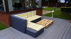 DIY Pallet Sectional Sofa : Tutorial | 101 Pallet Ideas
