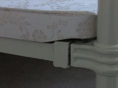 Bed base with specially designed corners for antique bedsteads www.catherineleighbeds.co.uk